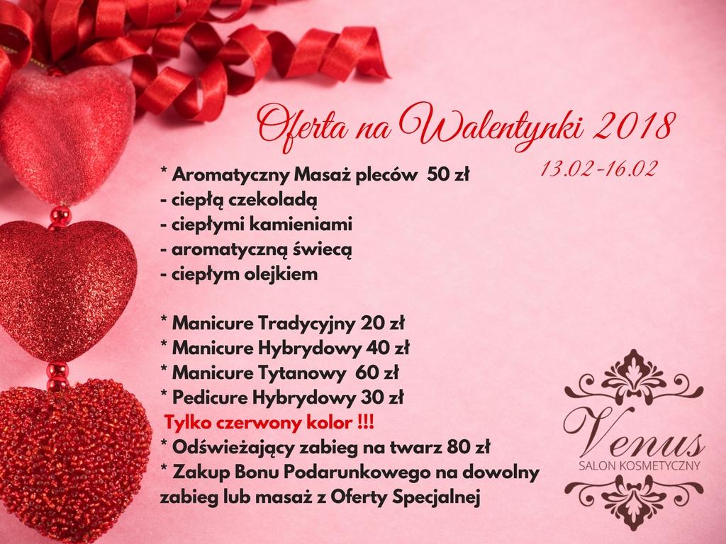 Salon kosmetyczny VENUS - Walentynki w Venus