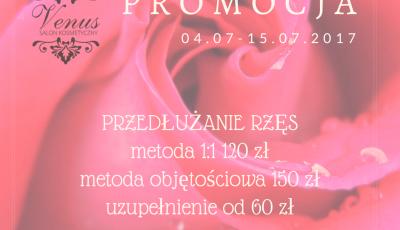 Salon kosmetyczny VENUS - Piękne rzęsy na lato - PROMOCJA