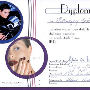 Salon kosmetyczny VENUS - Certyfikaty
